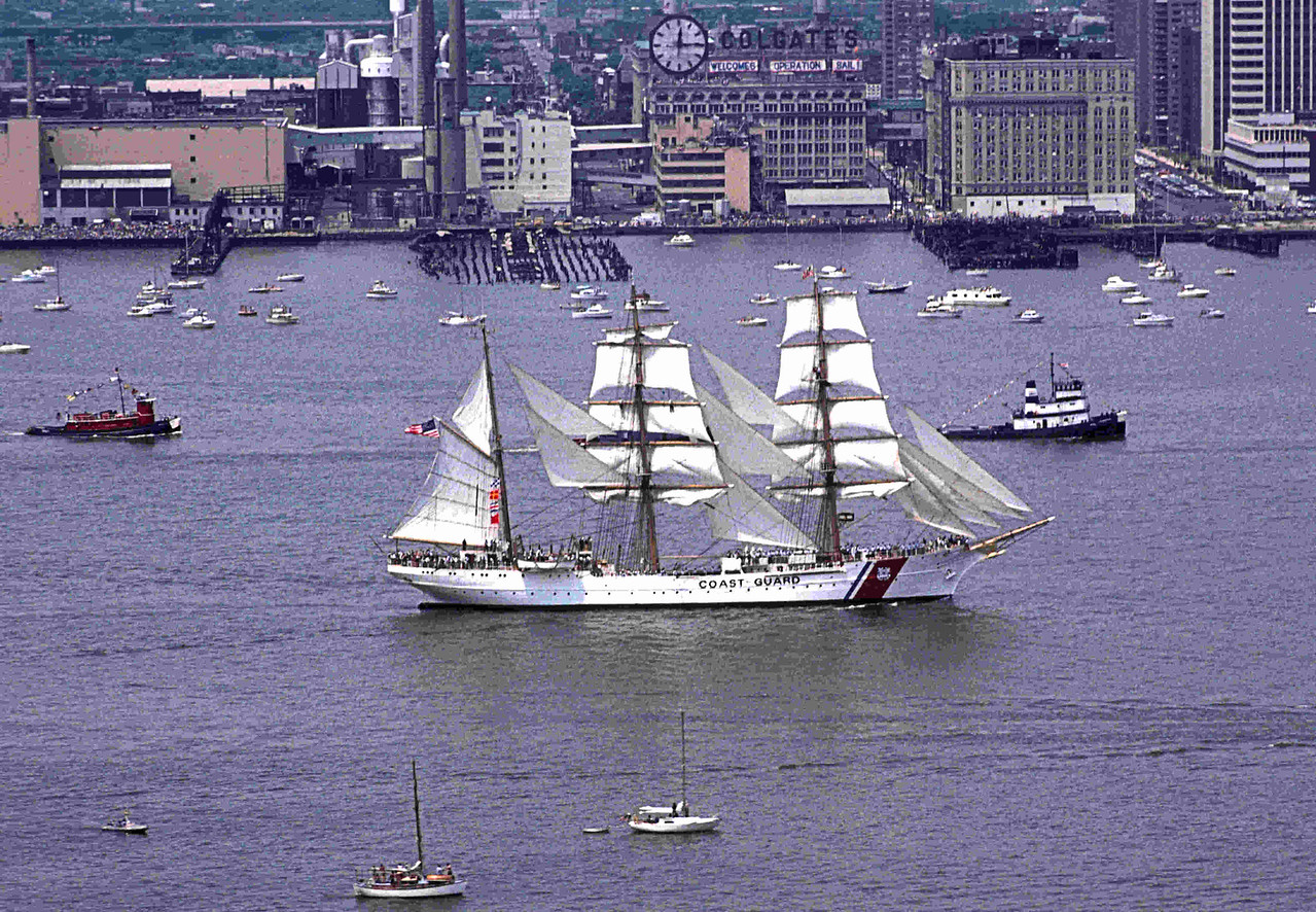 This is  the US Coast Guard Eagle (USCGC Eagle (WIX-327)) apparently built in Nazi Germany and taken by the US after WWII as war reparations.  You can run a Google search and learn more about her.